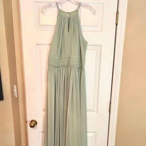 Bill Levkoff Light Green Bridesmaid Dress